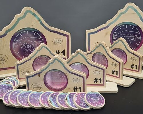 Trophées bois imprimés avec plaque PVC